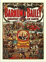 ADVERTISING CULTURAL EXHIBITION FREAK SHOW BARNUM BAILEY ART POSTER PRINT LV648