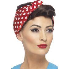 Perruque Rosie Femmes avec le foulard 40 50's chic poule pin up girl modèle polkadot
