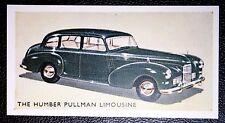 Humber Pullman      Vintage Illustrated Card   VGC