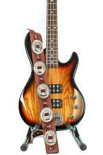 Large Conch Guitar Strap Genuine Leather Guitar/Bass USA Handmade -Tan Saddle