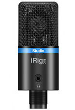 NEW IKMultimedia Irig Mic Studio Microphone for Iphone Ipad Android Black