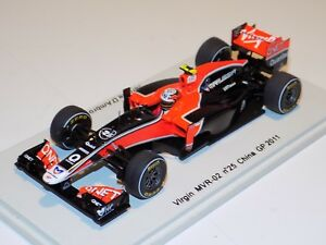 1/43 Spark Virgin MVR-02  car #25 2011 Chinese GP Jerome D'Ambrosio S3015