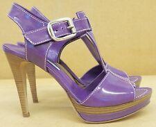 Guglielmo Rotta violet cuir verni talons hauts UK 5.5 EU 38.5 Entièrement neuf dans sa boîte