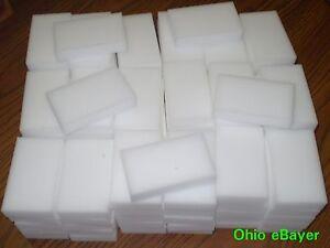 """100 Magic Sponge Eraser BULK PACK Melamine Cleaning Foam 3/4"""" Thick USA Seller"""