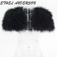 Ostrich Feather Fur Wedding Bridal Shawl Wraps Shrug Unique Replication Scarves