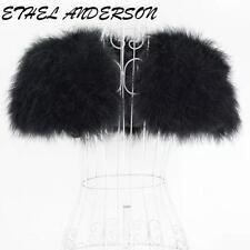 Real Ostrich Feather Bolero Shrug Fur Wrap Jacket High Stylish Bridal Wedding