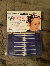 Lot of 72, Curl Clips Double, plastic,12 per package  Hair Care