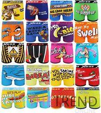 3 Pack Mens Funny Boxer Shorts Random Designer Novelty Trunks Underwear New Gift