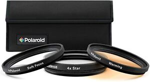 Polaroid Creative Filter Kit, Soft Focus + 4 Point Star + Warming - 55mm, BNIB