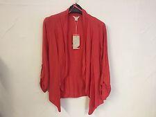 Ex Monsoon Coral Melissa Casablanca Jacket Size 10