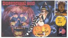 JVC CACHETS - 2014  HALLOWEEN BEAUTY & BEAST EVENT COVERS FDC TOPICAL HORROR #2