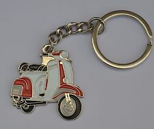Red and White Vespa Scooter Mod Enamel Keyring