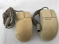 58269 - 2 X MICROSOFT PS-2 TWO BUTTON PORT COMPATABLE 2.0 MOUSE .