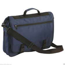 Mens Blue Messenger Satchel Briefcase Work College School Utility Shoulder Bag
