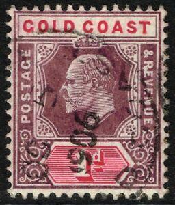SG 50 GOLD COAST 1904 - 1d DULL PURPLE & CARMINE - USED