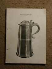 Antique American Pewter catalog via Yale art gallery - clean pristine condition