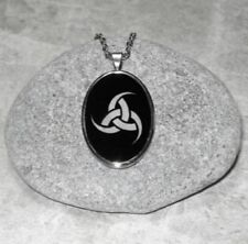 Odin's Triple Horn Pendant Necklace Viking Jewelry Stainless Steel