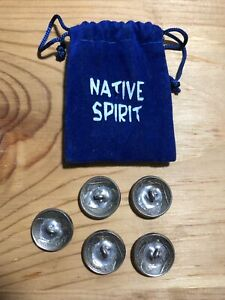Native Spirit Authentic Buffalo Nickel Buttons Lot of 5 Dated