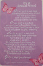 "Pocket Keepsake Messages ""For A Special Friend"" Wallet/Purse purple(butterfly)"