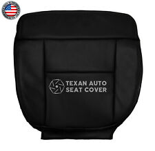 2007 2008 Ford F-150 Lariat Driver Bottom Synthetic Leather Seat Cover Black