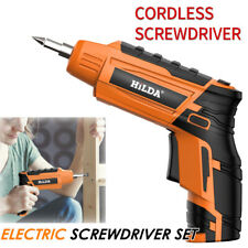Electric Drill Cordless Screwdriver Bits USB Rechargeable Sockets Drive Set Tool