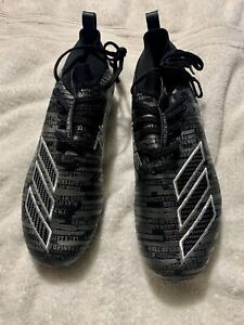 NEW Adidas Adizero 8.0 Black Silver Football Cleats EE7451 Size 9