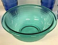 Pyrex Basket weave Glass Mixing Bowl  Peacock Turquoise Aqua Blue #322  RARE