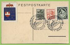 Austria 1937 Klosterburg 800th Anniversary special postcard & cancel