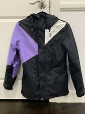 Volcom Womens Snowboard Ski Jacket Black And Purple Size XS