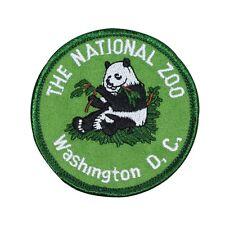 "Souvenir Patch ""The National Zoo Washington DC"" Panda Park Iron-On Applique"
