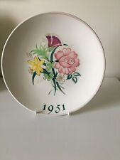 More details for poole pottery cabinet plate celebrating 1951festival of britain south banklondon
