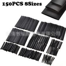 150 PCS BLACK HEAT SHRINK HEATSHRINK WIRE CABLE TUBING TUBE SLEEVING SLEEVE WRAP