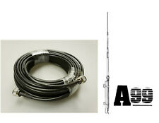 NEW ANTRON 99 CB,HAM BASE ANTENNA & 100' LMR240 RG8X COAX CABLE 95% SHIELDED A99