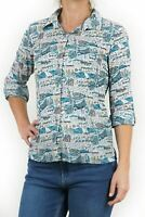 NEW Seasalt Larissa Falmouth Fun Printed Twist & Dry Shirt RRP £39.95 Save £17!