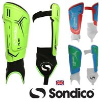 SONDICO Branded Football Shin & Ankle Pads/Guards Boys/Junior/ Children's/Mens