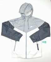 Nike Windbreaker Jacket Men's Running Training Gym White Grey Black AT5270-102