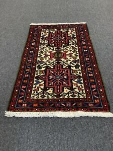 On Sale Beautiful Vintage Hand Knotted Fine Heriz Area Rug Carpet 2'x3'#3179