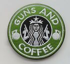 Starbucks Coffee GUN AND COFFEE Tactical Morale 3D   Patch   SJK +   367