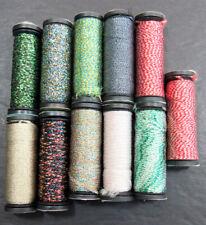 11x Needlepoint/Embroidery Thread Kreinik 1/16 Ribbon metallic-mixed-Nj8