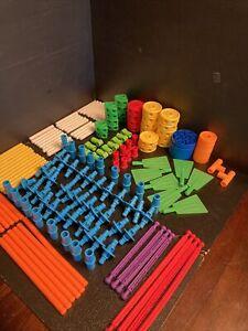B50) Playskool Tinker Toys TinkerToy Building Set Pieces VTG 175+ Pieces Toys