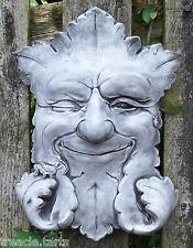 Winking Green Man Smiling Plaque Stone Garden Ornament  Pagan. 18 x 5 x 24 cms