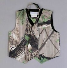 Peanut Butter Collection Boy's Camouflage Vest and Tie TW4  Multi-Color Large