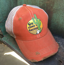 Go Climb a Cactus Vintage Distressed Style Cap Hat Trendy Fun Cute NEW
