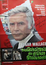 """JOACHIM FUCHSBERGER original Autogramm Poster: """"Geheimnis der grünen Stecknadel"""""""