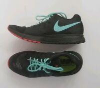NIKE AIR ZOOM PEGASUS 31 RUNNING SHOE SZ 12.5 Custom Nike ID Black Teal