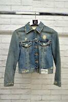 Giacca GUESS Bimba Ragazza cotone Jacket Jeans Cotone Blazer Blu Taglia 12 Anni