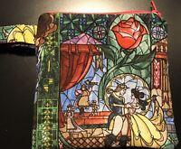 Disney Beauty And The Beast Mini Wristlet