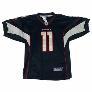 Larry Fitzgerald Arizona Cardinals Jersey Kids Youth Size M Black Reebok NFL