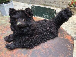 CHIEN LOULOU RANGE PYJAMA ,spitz hund ,dog box ANTIQUE DOLL DOG JUMEAU POUPEE