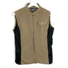 Irideon Women's Equestrian Zip-Front Riding Vest Sz M Brown Black